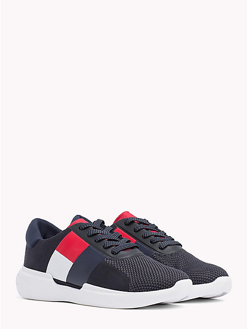 TOMMY HILFIGER Lightweight Colour-Blocked Flag Trainers - MIDNIGHT - TOMMY HILFIGER Best Sellers - main image