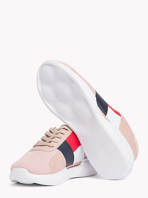 TOMMY HILFIGER Lightweight Colour-Blocked Flag Trainers - MAHOGANY ROSE - TOMMY HILFIGER Trainers - detail image 1