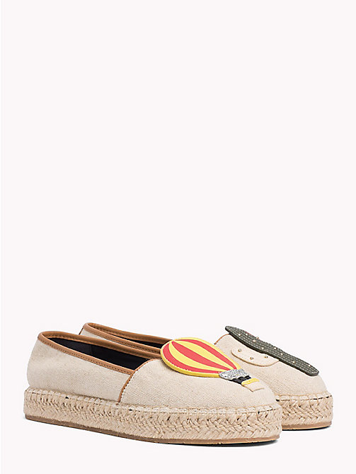 TOMMY HILFIGER Balloon Appliqué Espadrilles - TAPIOCA - TOMMY HILFIGER VACATION FOR HER - main image