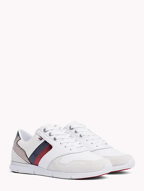 TOMMY HILFIGER Colour-Blocked Metallic Light Trainers - RWB - TOMMY HILFIGER Signature stripes - main image