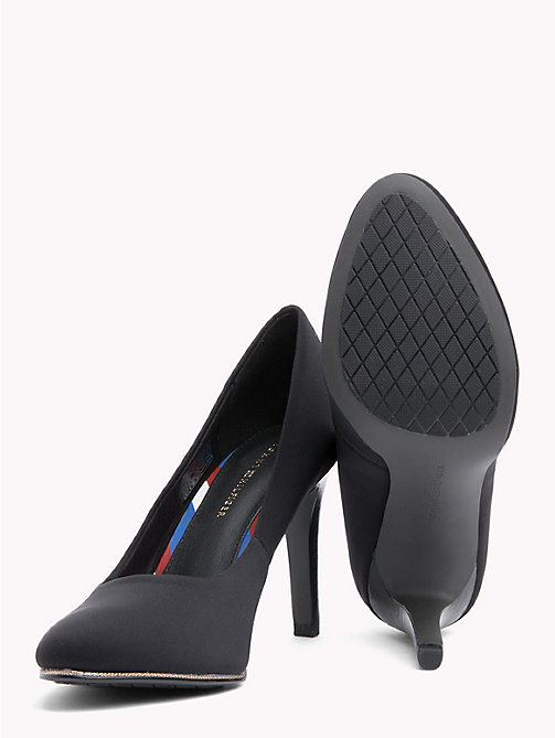 TOMMY HILFIGER Fabric Stiletto Heel Pumps - BLACK - TOMMY HILFIGER Pumps - detail image 1