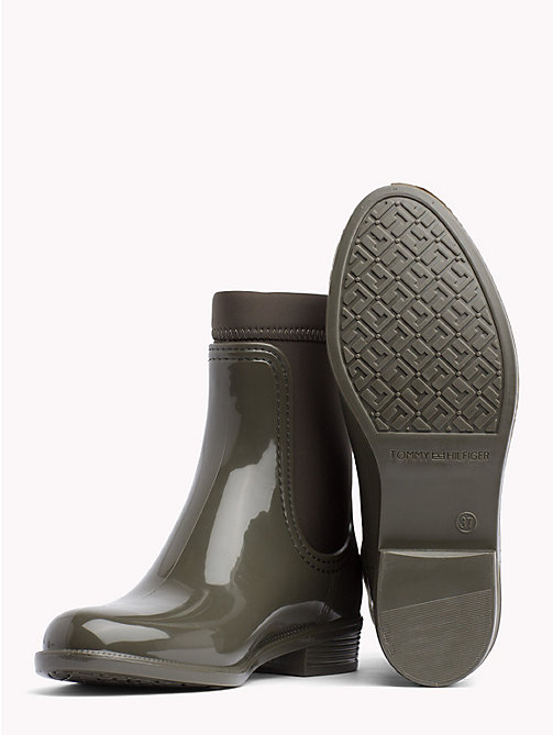 TOMMY HILFIGER Gloss Ankle Rain Boots - MILITARY - TOMMY HILFIGER Wellies - detail image 1
