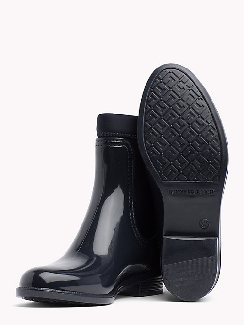 TOMMY HILFIGER Gloss Ankle Rain Boots - MIDNIGHT - TOMMY HILFIGER Wellies - detail image 1