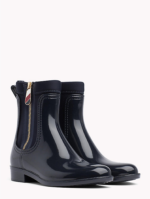 TOMMY HILFIGER Gloss Ankle Rain Boots - MIDNIGHT - TOMMY HILFIGER Wellies - main image