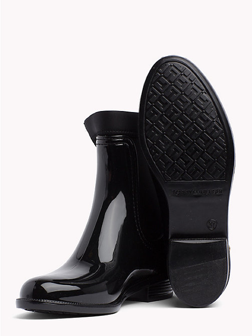 TOMMY HILFIGER Gloss Ankle Rain Boots - BLACK - TOMMY HILFIGER Shoes - detail image 1