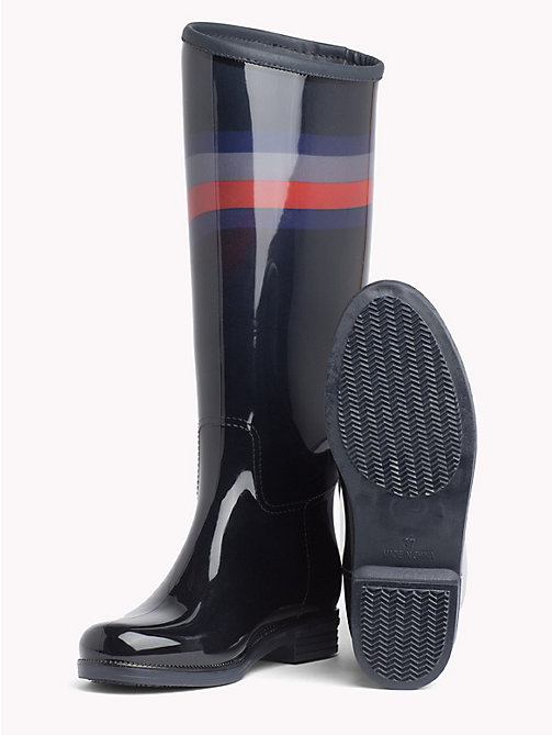 TOMMY HILFIGER Colour-Blocked Chevron Rain Boots - RWB - TOMMY HILFIGER Shoes - detail image 1