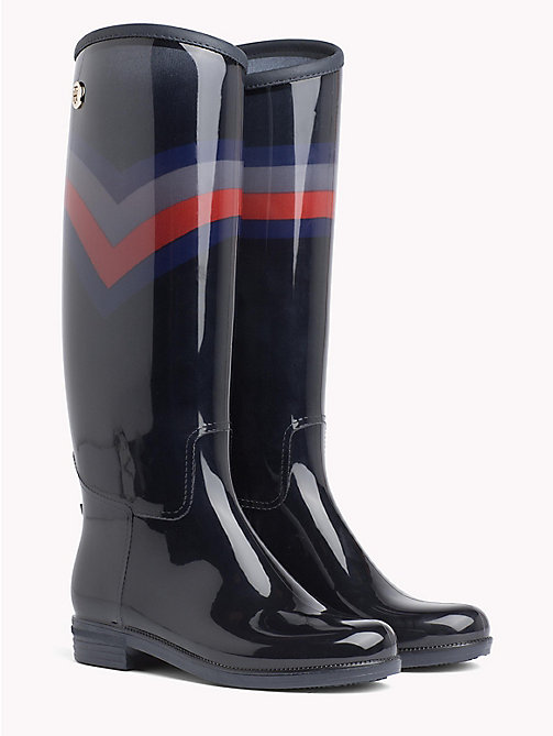 TOMMY HILFIGER Colour-Blocked Chevron Rain Boots - RWB - TOMMY HILFIGER Shoes - main image