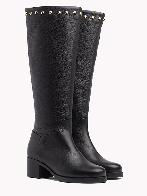 TOMMY HILFIGER Studded Long Boots - BLACK - TOMMY HILFIGER Test 12 - main image
