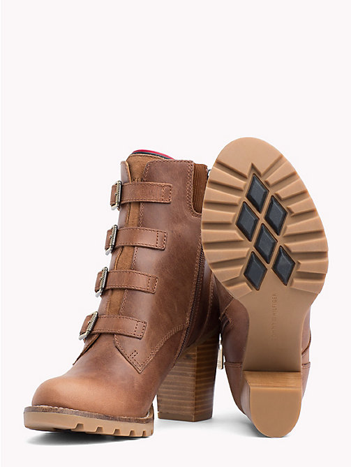 TOMMY HILFIGER Multi-Strap High Heel Boots - WINTER COGNAC - TOMMY HILFIGER Shoes - detail image 1