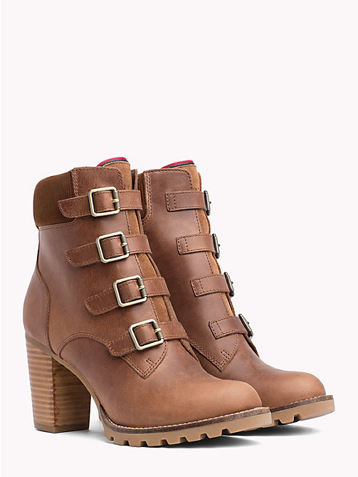 TOMMY HILFIGER Multi-Strap High Heel Boots - WINTER COGNAC - TOMMY HILFIGER Heeled Boots - main image