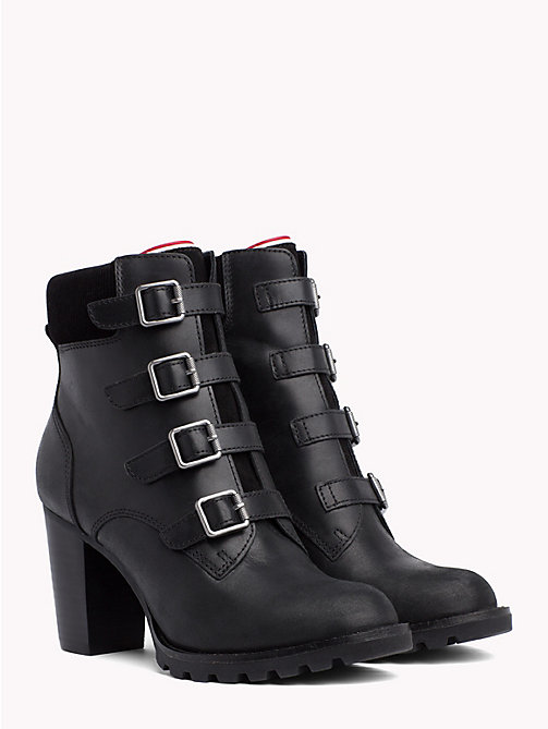 TOMMY HILFIGER Multi-Strap High Heel Boots - BLACK - TOMMY HILFIGER Heeled Boots - main image
