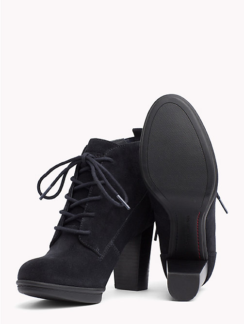 TOMMY HILFIGER Lace-Up Suede Boots - MIDNIGHT - TOMMY HILFIGER Heeled Boots - detail image 1