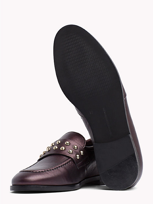 TOMMY HILFIGER Metal Stud Loafers - DECADENT CHOCOLATE - TOMMY HILFIGER Moccasins & Loafers - detail image 1