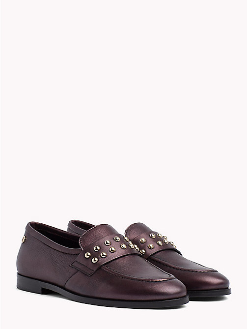 TOMMY HILFIGER Metal Stud Loafers - DECADENT CHOCOLATE - TOMMY HILFIGER Shoes - main image