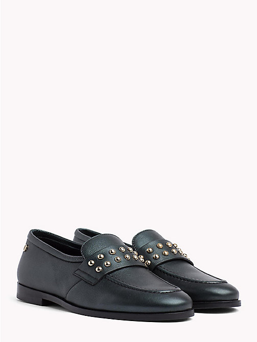 TOMMY HILFIGER Metal Stud Loafers - SEA PINE - TOMMY HILFIGER Shoes - main image