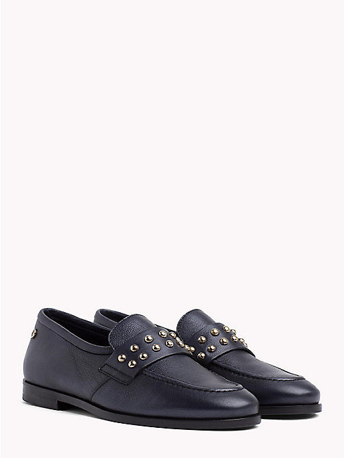 TOMMY HILFIGER Metal Stud Loafers - TOMMY NAVY - TOMMY HILFIGER Shoes - main image
