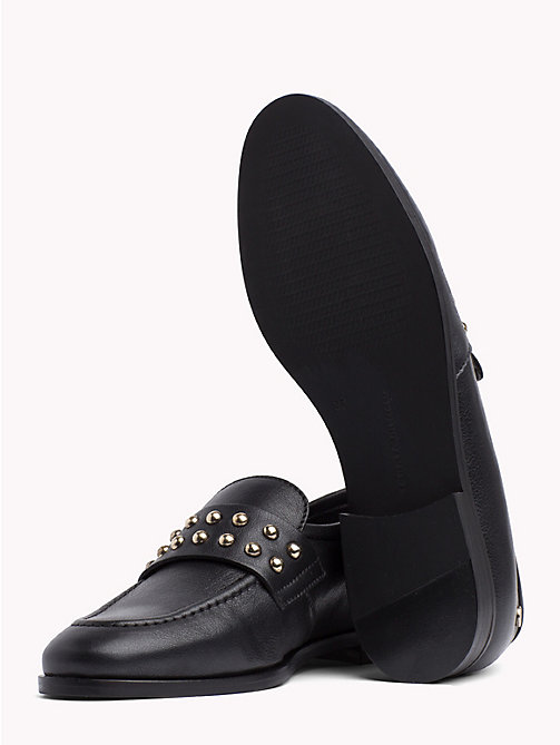 TOMMY HILFIGER Metal Stud Loafers - BLACK - TOMMY HILFIGER Shoes - detail image 1