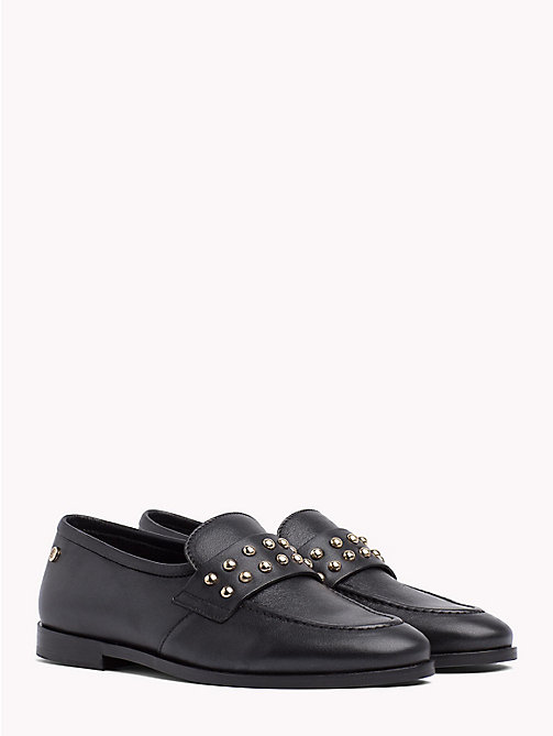 TOMMY HILFIGER Metal Stud Loafers - BLACK - TOMMY HILFIGER Shoes - main image