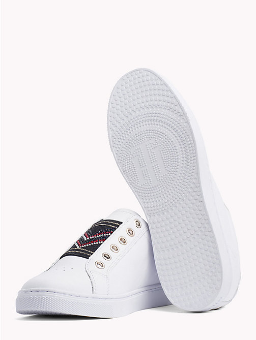 TOMMY HILFIGER Elastic Studded Chevron Trainers - WHITE -  Trainers - detail image 1