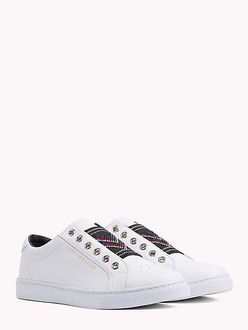TOMMY HILFIGER Elastic Studded Chevron Trainers - WHITE -  Trainers - main image