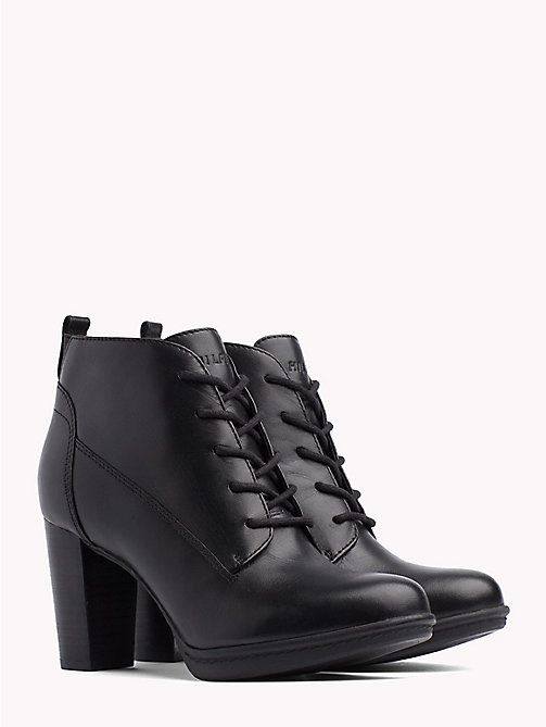 TOMMY HILFIGER High Heel Lace-Up Boots - BLACK - TOMMY HILFIGER Heeled Boots - main image