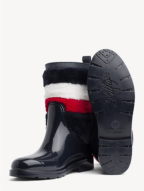 TOMMY HILFIGER Signature Rain Boots - MIDNIGHT - TOMMY HILFIGER Wellies - detail image 1