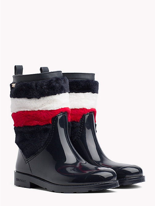 TOMMY HILFIGER Signature Rain Boots - MIDNIGHT - TOMMY HILFIGER Wellies - main image