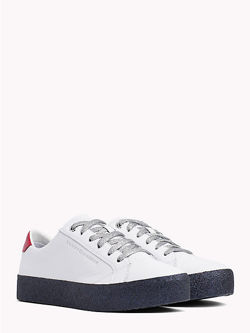 TOMMY HILFIGER Glitter Lace-Up Trainers - RWB - TOMMY HILFIGER Trainers - main image