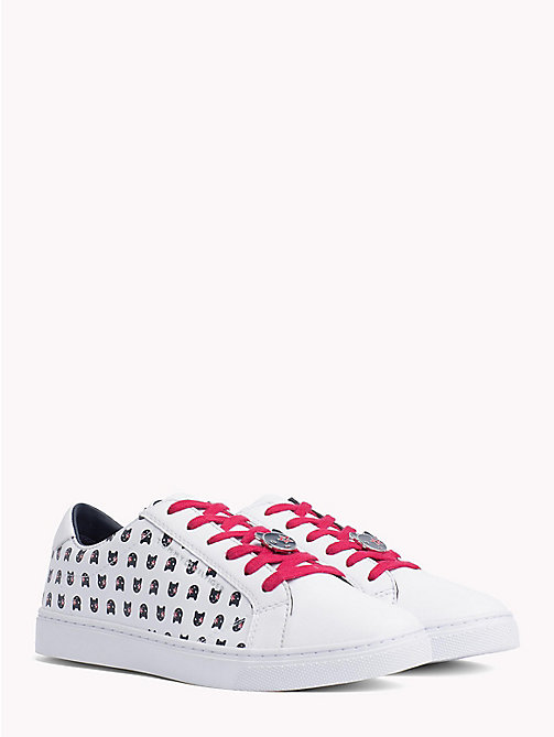 TOMMY HILFIGER Mascot Leather Trainers - WHITE - TOMMY HILFIGER Trainers - main image