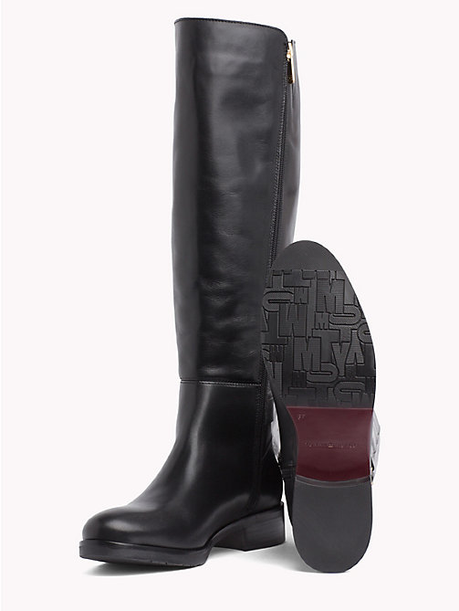 TOMMY HILFIGER Monogram Buckle High Boots - BLACK - TOMMY HILFIGER Knee-High Boots - detail image 1