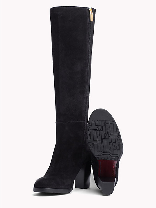 TOMMY HILFIGER Monogram Buckle Long Boots - BLACK - TOMMY HILFIGER Boots - detail image 1