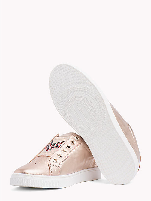 TOMMY HILFIGER Metallic Studded Elastic Trainers - ROSE GOLD - TOMMY HILFIGER Trainers - detail image 1