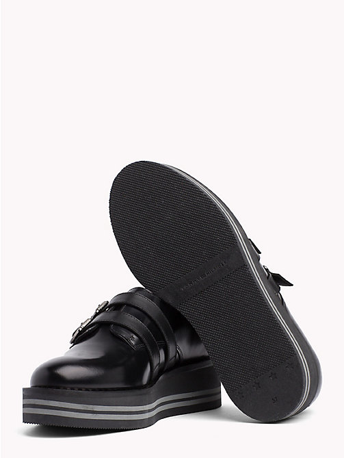 TOMMY HILFIGER Buckle Detail Flatform Shoes - BLACK - TOMMY HILFIGER NEW IN - detail image 1