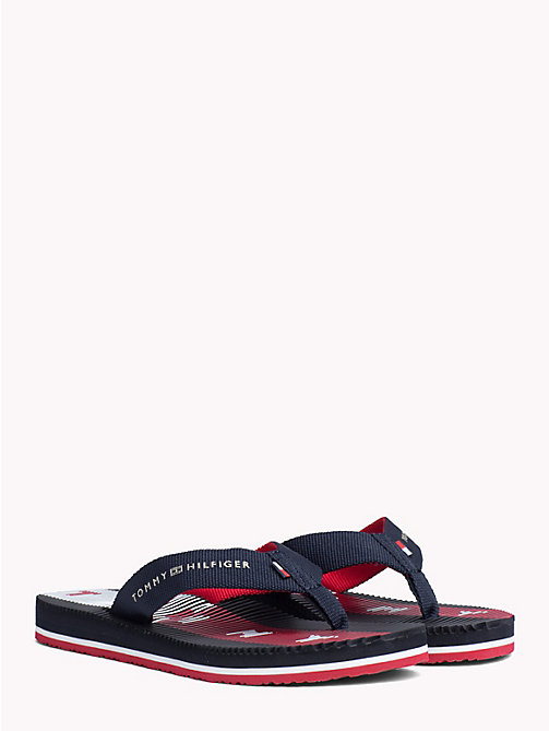 TOMMY HILFIGER Ribbed Logo Flip Flops - RWB - TOMMY HILFIGER NEW IN - main image