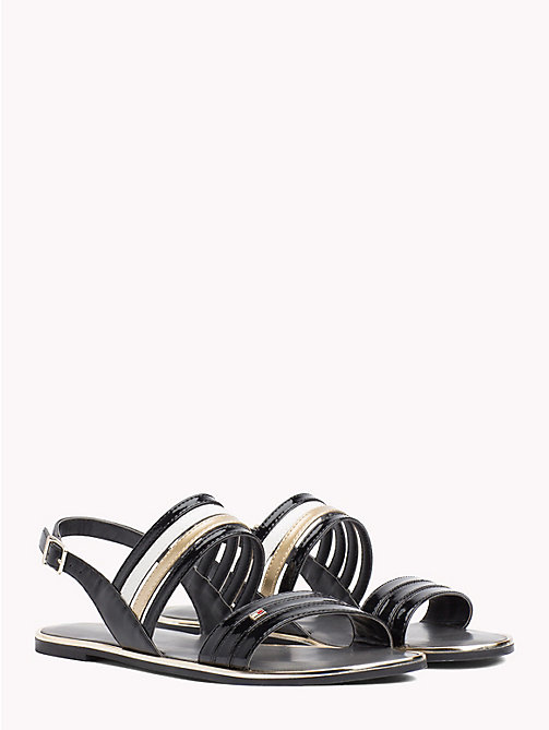 TOMMY HILFIGER Colour-Blocked Strappy Sandals - BLACK - TOMMY HILFIGER Flat Sandals - main image