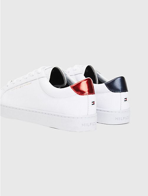 TOMMY HILFIGER Metallic Back Lace-Up Trainers - RWB - TOMMY HILFIGER Trainers - detail image 1