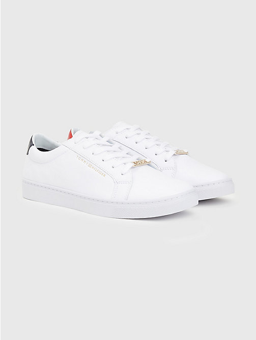 TOMMY HILFIGER Metallic Back Lace-Up Trainers - RWB - TOMMY HILFIGER Trainers - main image