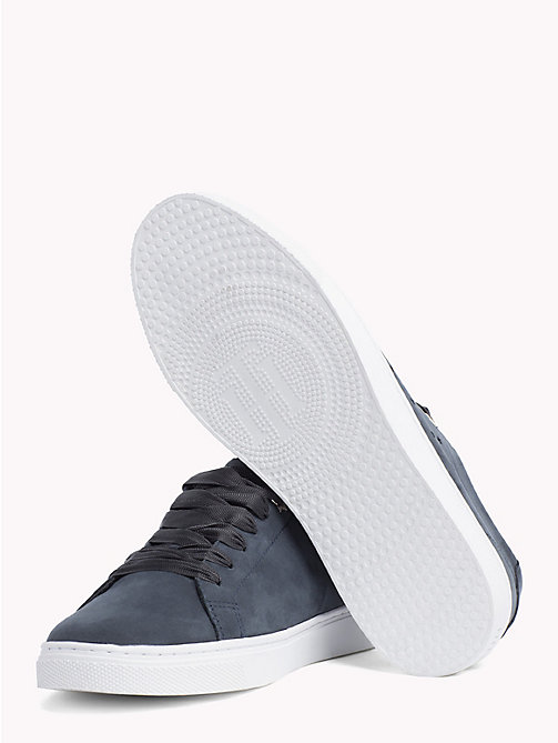 TOMMY HILFIGER Leather Star Perforated Trainers - MIDNIGHT - TOMMY HILFIGER Trainers - detail image 1
