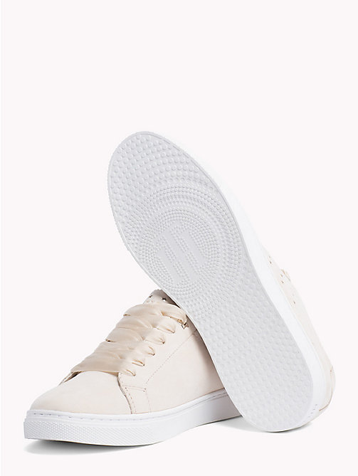 TOMMY HILFIGER Leather Star Perforated Trainers - TAPIOCA - TOMMY HILFIGER Shoes - detail image 1