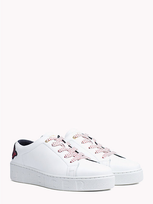 TOMMY HILFIGER Sequinned Logo Trainers - WHITE - TOMMY HILFIGER NEW IN - main image