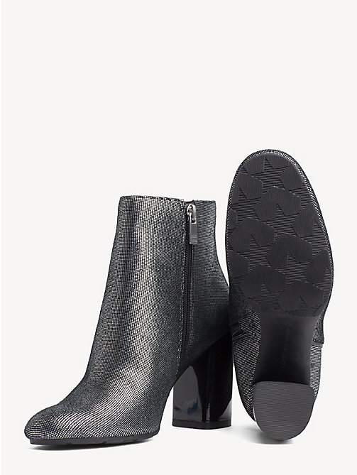 TOMMY HILFIGER Metallic Zip-Up Ankle Boots - DARK SILVER - TOMMY HILFIGER Party Looks - detail image 1