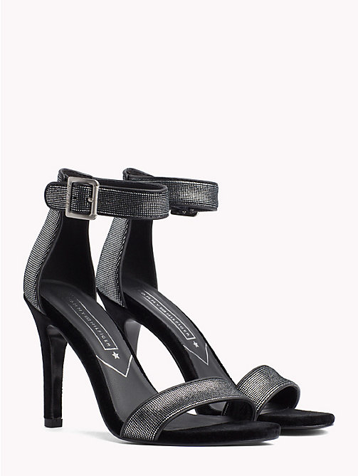 TOMMY HILFIGER Metallic High Heel Sandals - DARK SILVER - TOMMY HILFIGER NEW IN - main image