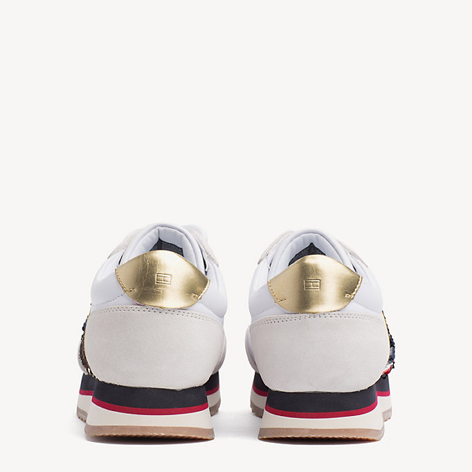 c2a97e5395f3b Signature Sequinned Retro Trainers. TOMMY HILFIGER