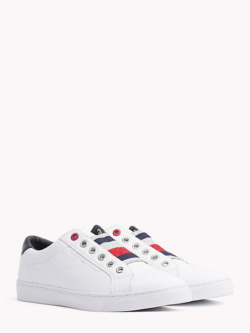 TOMMY HILFIGER Signature Elastic Slip-On Trainers - WHITE - TOMMY HILFIGER Trainers - main image