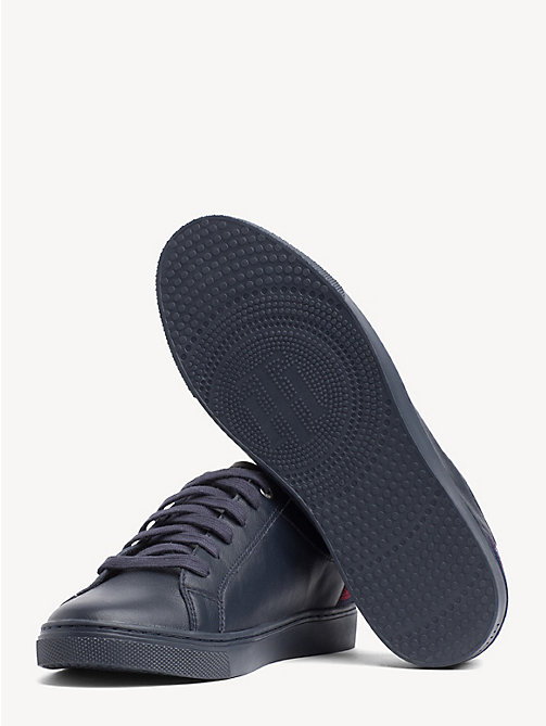 TOMMY HILFIGER Essential Metallic Signature Tape Trainers - MIDNIGHT - TOMMY HILFIGER Trainers - detail image 1