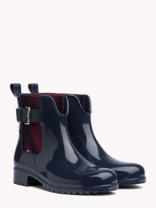 TOMMY HILFIGER Mesh Panel Ankle Rain Boots - MIDNIGHT - TOMMY HILFIGER NEW IN - main image