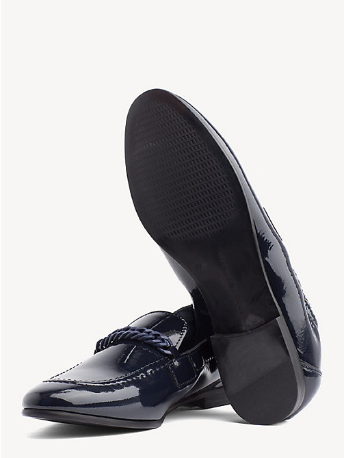 TOMMY HILFIGER Chain Detail Patent Leather Loafers - TOMMY NAVY - TOMMY HILFIGER Moccasins & Loafers - detail image 1