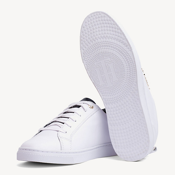 City Metallic Detail Hilfiger TrainersWhite Tommy ARqc34j5L