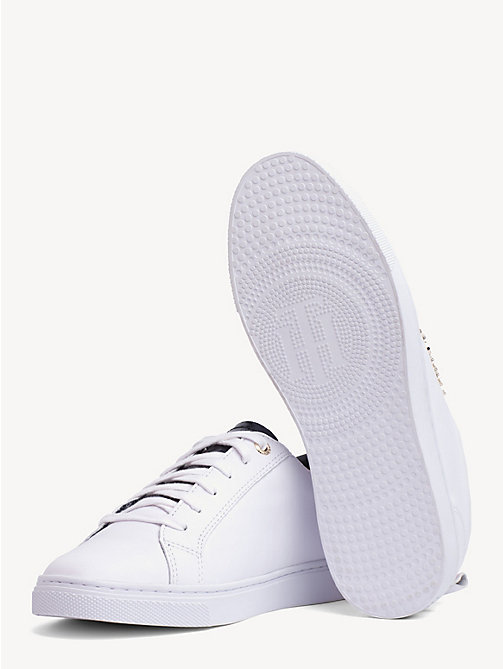 TOMMY HILFIGER Metallic Detail City Trainers - WHITE - TOMMY HILFIGER Trainers - detail image 1