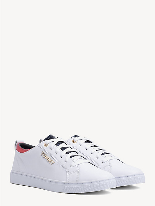TOMMY HILFIGER Metallic Detail City Trainers - WHITE - TOMMY HILFIGER Trainers - main image